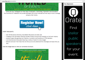 Orate Web Banner Ad on FFEA website